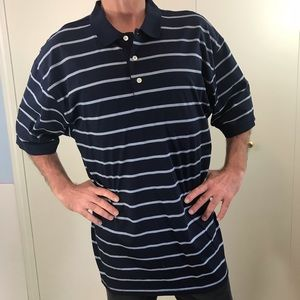 Tommy Hilifiger XL golf Polo blue white  stripes